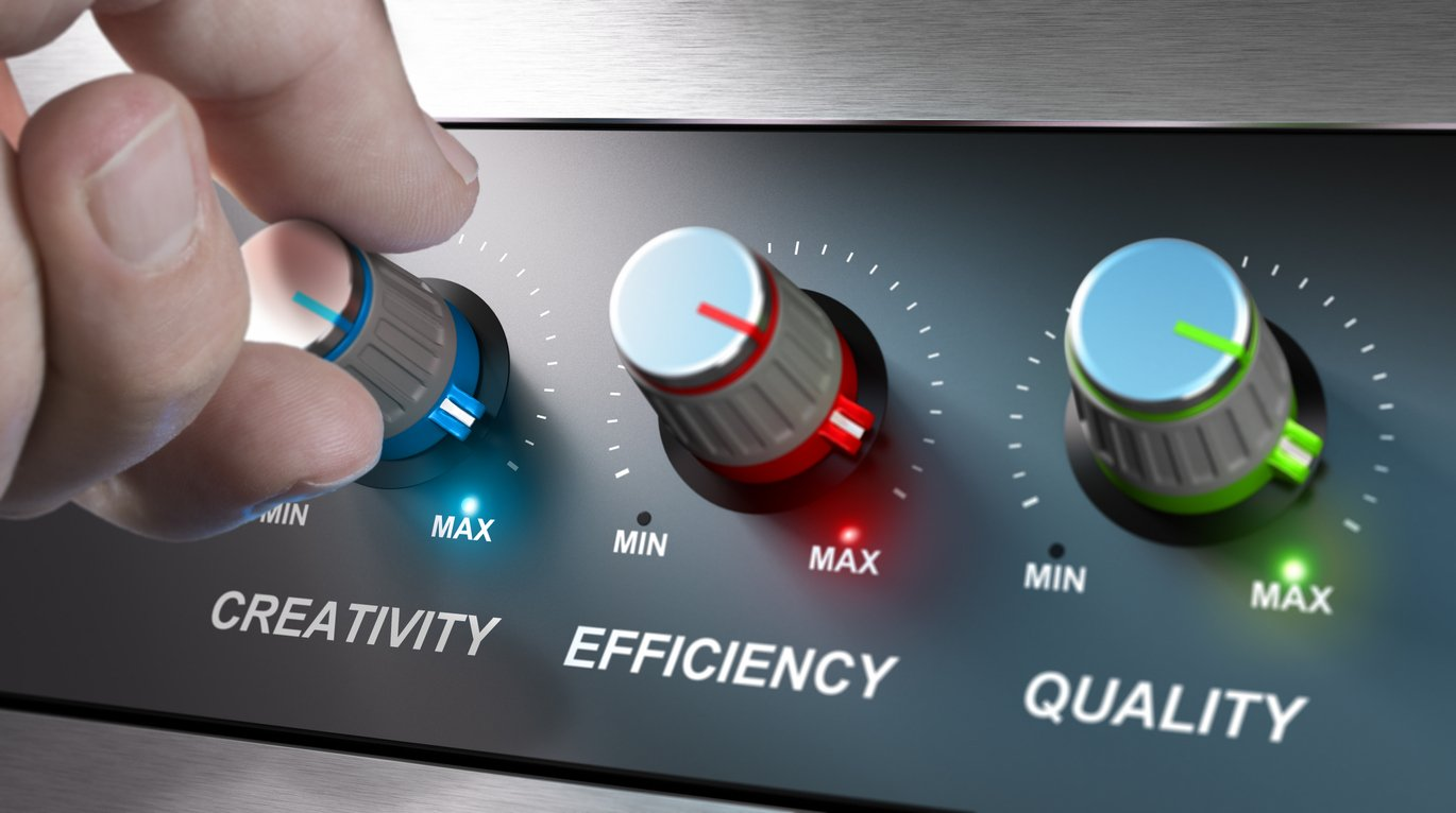 Control panel with tuners for creativity, efficiency and quality