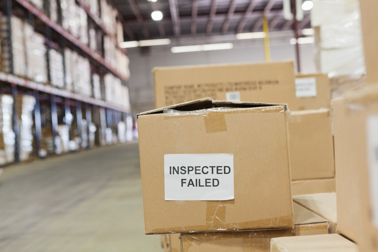 Boxes marked 'Inspected Failed'